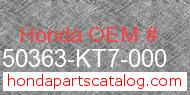 Honda 50363-KT7-000 genuine part number image