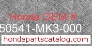 Honda 50541-MK3-000 genuine part number image