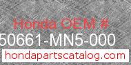 Honda 50661-MN5-000 genuine part number image