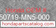Honda 50719-MN5-000 genuine part number image