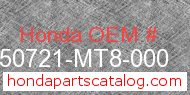 Honda 50721-MT8-000 genuine part number image