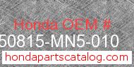 Honda 50815-MN5-010 genuine part number image