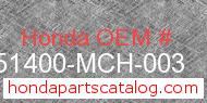 Honda 51400-MCH-003 genuine part number image