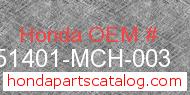 Honda 51401-MCH-003 genuine part number image