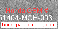 Honda 51404-MCH-003 genuine part number image