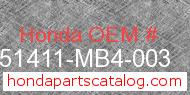 Honda 51411-MB4-003 genuine part number image