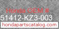 Honda 51412-KZ3-003 genuine part number image