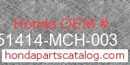 Honda 51414-MCH-003 genuine part number image