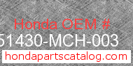 Honda 51430-MCH-003 genuine part number image