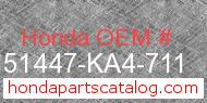 Honda 51447-KA4-711 genuine part number image