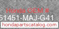 Honda 51451-MAJ-G41 genuine part number image