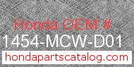 Honda 51454-MCW-D01 genuine part number image