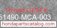 Honda 51490-MCA-003 genuine part number image
