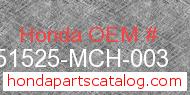 Honda 51525-MCH-003 genuine part number image