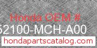 Honda 52100-MCH-A00 genuine part number image