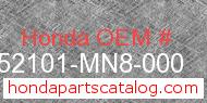 Honda 52101-MN8-000 genuine part number image