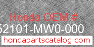 Honda 52101-MW0-000 genuine part number image
