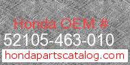 Honda 52105-463-010 genuine part number image