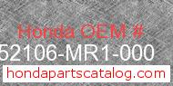 Honda 52106-MR1-000 genuine part number image