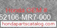 Honda 52106-MR7-000 genuine part number image