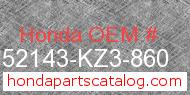 Honda 52143-KZ3-860 genuine part number image