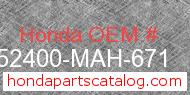 Honda 52400-MAH-671 genuine part number image