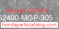 Honda 52400-MGP-305 genuine part number image
