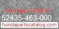 Honda 52435-463-000 genuine part number image