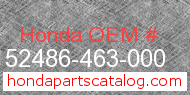 Honda 52486-463-000 genuine part number image