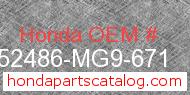 Honda 52486-MG9-671 genuine part number image