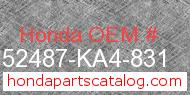 Honda 52487-KA4-831 genuine part number image