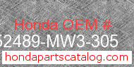 Honda 52489-MW3-305 genuine part number image
