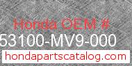 Honda 53100-MV9-000 genuine part number image