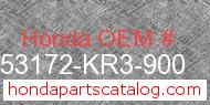 Honda 53172-KR3-900 genuine part number image