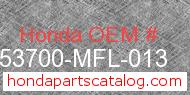 Honda 53700-MFL-013 genuine part number image