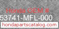 Honda 53741-MFL-000 genuine part number image