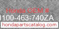 Honda 61100-463-740ZA genuine part number image