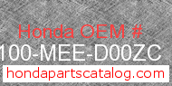 Honda 61100-MEE-D00ZC genuine part number image