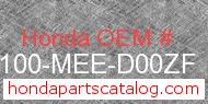 Honda 61100-MEE-D00ZF genuine part number image