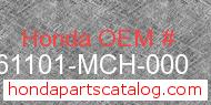 Honda 61101-MCH-000 genuine part number image