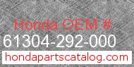 Honda 61304-292-000 genuine part number image
