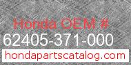 Honda 62405-371-000 genuine part number image