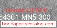Honda 64301-MN5-300 genuine part number image