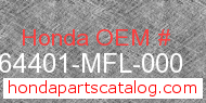 Honda 64401-MFL-000 genuine part number image