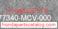 Honda 77340-MCV-000 genuine part number image