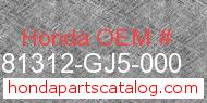 Honda 81312-GJ5-000 genuine part number image
