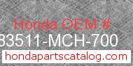 Honda 83511-MCH-700 genuine part number image