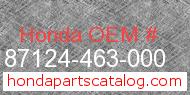 Honda 87124-463-000 genuine part number image