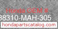 Honda 88310-MAH-305 genuine part number image