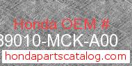 Honda 89010-MCK-A00 genuine part number image
